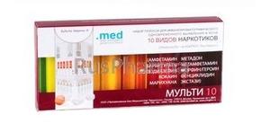 Multitest for 10 types of drugs